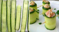 Low Carb Rezept für leckere Lachs-Gurkenrollen. Wenig Kohlenhydrate und einfach zum Nachkochen. Super für Diät/zum Abnehmen.