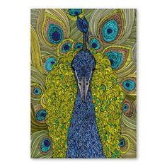 Autorský plakát The Peacock od Valentiny Ramos