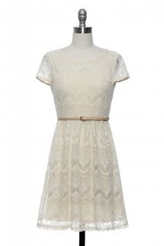 vanilla latte dress | lace affair (same as need i crochet more from modcloth) $44.99