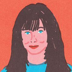 """Quick Portraits"" Brenda Walsh, by Lorenzo Gritti, Hellogritti.com"