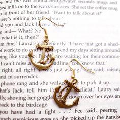 Ahoy Sailor Anchor Earrings by AvecAmourLauren on Etsy