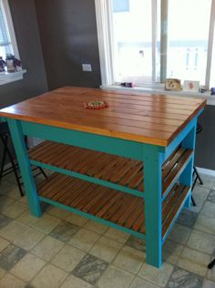 DIY kitchen island http://www.reddit.com/r/DIY/comments/y1yvu/kitchen_island_diy_sort_of/