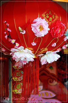 beautiful chinese lantern by jacqueline follow her blog here http://jqlinesocuteithurts.typepad.com