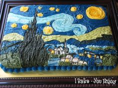 vangogh cake - would be great for an art theme party