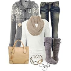 SNOWFLAKE SEASON winter  outfit... Especially like the pom-pom hoodie sweater and the flat-heeled boots.