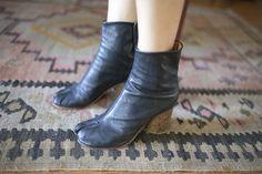 Margiela tabi boots...photographer Hilary Walsh via closet visit