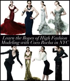 Coco Rocha is one of the best models.  Her poses are amazing...