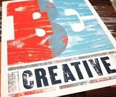 Letterpress poster, Art Print - Be Creative