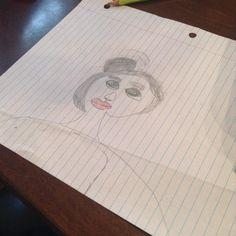 Picasso Robson (aka Youngest) drew me. #art #kidswhodraw