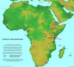 Mount Kilimanjaro Africa Map Location | Climbing/Camping