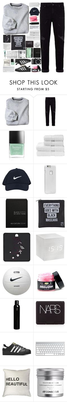 """""""Gimme everything, all your heart can bring"""" by justonegirlwithdreams ❤ liked on Polyvore featuring Butter London, Christy, Thot, NIKE, Case-Mate, Ex Voto Paris, Eyeko, Oribe, NARS Cosmetics and adidas Originals"""