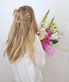 Braids and flowers and flower braids!