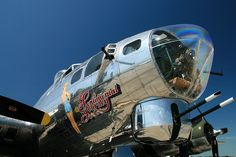 """Nose turret gun of the B-17 Flying Fortress """"Sentimental Journey"""", Tail #483514F."""