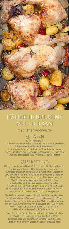 Mediterranean One Pot Chicken Potatoes Vegetable Recipe Hähnchenpfanne mediterran mit Gemüse Rezept