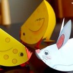 Easy-To-Build Paper Animals For Little Kids - by Krokotak - == - In this Russian educational website called Krokotak you will find this cool project with templates of cute animals to cut and fold, perfect for little kids. Kids Crafts, Easter Crafts For Toddlers, Farm Crafts, Toddler Crafts, Preschool Crafts, Diy And Crafts, Cool Paper Crafts, Paper Plate Crafts, Paper Plates