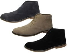Details about MENS SYNTHETIC SUEDE DESERT WINTER CASUAL LACE UP FASHION  BOOTS TRAINERS SHOES