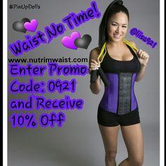 9de0045347b Waist No Time! Enter my promo code  0921 to receive OFF!