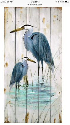 size: Framed Art Print: Blue Heron Duo by Arnie Fisk : Our professional designers have pre-selected this frame and mat combination to complement your art print. Each piece is hand-framed by framing experts right here in the USA. Watercolor Bird, Watercolor Paintings, Arte Latina, Canvas Art, Canvas Prints, Big Canvas, Coastal Art, Coastal Style, Pallet Art