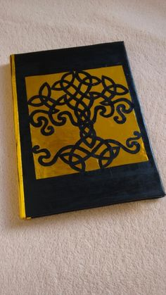 Another sketchbook I made. I used a Iggdrasil drawing from Pinterest as reference for this one, which was handcut. ~Harumoony