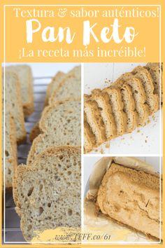Visit the post for more. Lowest Carb Bread Recipe, Low Carb Bread, Keto Bread, Pan Cetogénico, Keto Postres, Comida Keto, Easy Freezer Meals, Vegan Keto, Keto Diet Plan