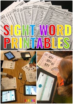Promote Independent Learning with Sight Words - Sharing Kindergarten