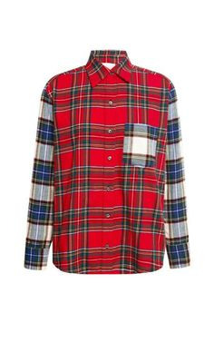 Wren Contrast Sleeve Button Up by Wren for Preorder on Moda Operandi