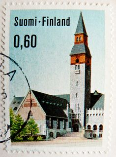 stamp Suomi Finland postage 0.60 National Museum Helsinki poste timbre finlande selo francobolli finlandia porto franco sellos 邮票  芬兰 почтовая марка Финляндия yóupiào Fēnlán timbre stamp selo franco bollo postage porto sellos marka briefmarke Finnland fra by stampolina, via Flickr Old Stamps, Postage Stamp Art, Good Old Times, Interesting Buildings, First Day Covers, Writing Paper, Black And White Pictures, Mail Art, Stamp Collecting