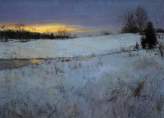 Peter Fiore Winter Afterglow oil/linen, 24x30