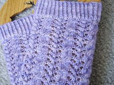 Cable and Lace Legs, knitted