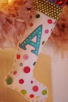Buttony Christmas stocking