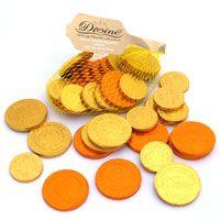 Fair Trade chocolate coins.