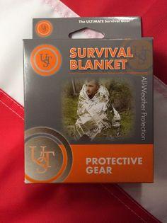 Survival blanket Emergency all weather bugoutbag disaster tactical UST GIFT prep #USTsurvivalblanket