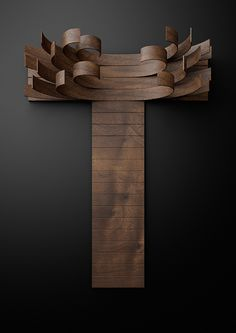 Just type it Typography built with wooden slats by... • typostrate