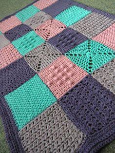 Stitch Pattern Sampler Blanket