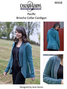 Brioche Collar Cardigan Cascade Pacific - W418. Discover more Patterns by Cascade Yarns at LoveKnitting. The world's largest range of knitting supplies - we stock patterns, yarn, needles and books from all of your favorite brands.