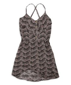 Another great find on #zulily! Coffee Spaghetti-Strap Button-Front Dress #zulilyfinds