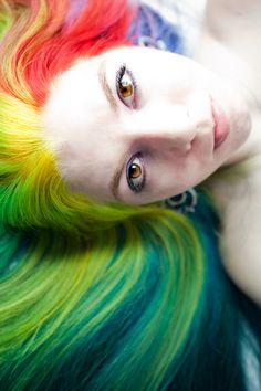Pretty multicolored hair