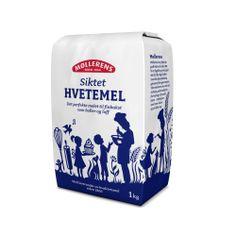 Møllerens Siktet Hvetemel flour packaging emballasje GRID design Kate Forrester Illustration