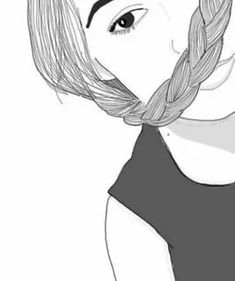 Image shared by Maddairr. Find images and videos about girl, drawing and outline on We Heart It - the app to get lost in what you love. Png Tumblr, Tumblr Art, Tumblr Girls, Overlays, Tumblr Girl Drawing, Girl Outlines, Black And White Drawing, Skateboard Art, Drawing People