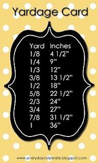Helpful Yardage Card crafty-fun