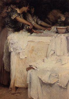 Woman's Work, Ironing    Carlos Reis, As Engomadeiras, 1915