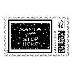 Santa Please Stop Here Postage
