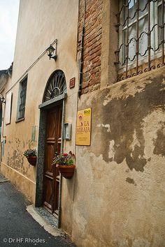 The restaurant La Miraja, Castagnole Monferrato, Italy