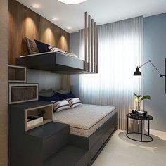 Kids Bedroom Designs, Kids Room Design, Bed Design, Design Case, House Design, Small Room Bedroom, Small Rooms, Modern Bedroom, Small Spaces