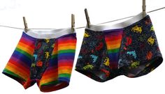 Now you can sew comfortable undies for men too! This pattern includes instructions to make boxer brief style underwear with two different hem options, two lengths, and two rises for both men and wo… Girl Boxers, Underwear Pattern, Men's Boxer Briefs, Boxers Underwear, Androgynous Fashion, Under Dress, Clothing Patterns, Sewing Patterns, Cool Outfits