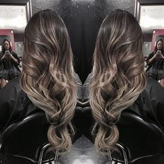 balayage ombre ash brown