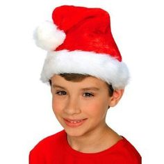 Deluxe Child Plush Santa Hat * Click image for more details. (This is an affiliate link) #HatsDressUpToys