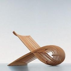 Wooden chair by Marc Newson for Cappellini