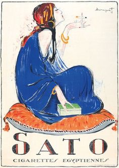 Sato Cigarettes Egyptiennes par Charles Loupot