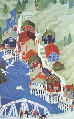 Illustrations, Illustration Art, Pop Art, Ketchikan Alaska, Pub, Guache, Naive Art, Art Design, Artist Art